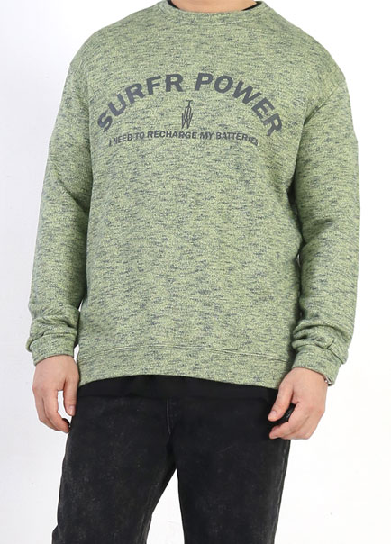 [더오피셜위크앤드]POWER BOKASHI SWEAT SHIRT