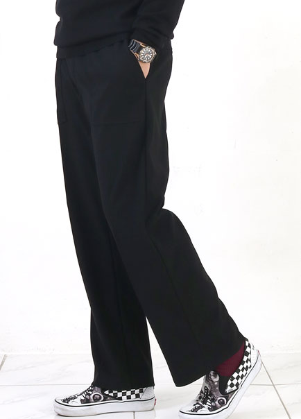 [파트너]JERSEY SEMI WIDE PANTS