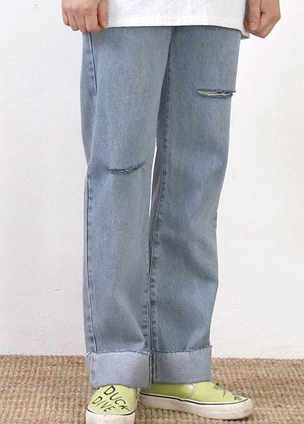 [파트너]no.600 MIDDLE BANDING LIGHT JEANS