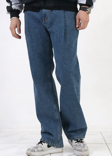 [파트너]no.206 SHIRRING WIDE JEANS