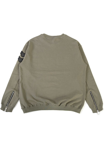 [더오피셜위크앤드]ZIPPER SLEEVE SWEAT SHIRT