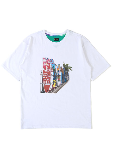 [더오피셜위크앤드]ALOHA SURFING BOARD SHORT SLEEVE