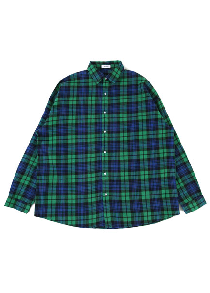 [파트너]LIME OVER CHECK SHIRT