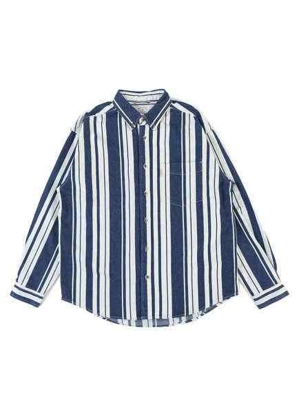 [파트너]DENIM STRIPE SHIRT